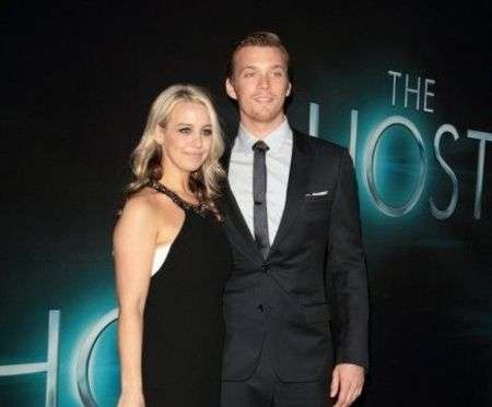 Jake Abel is married to his fiancee turned wife Allie Wood; the couple was engaged for 11 months before their wedding.