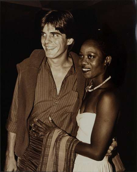 Young Alfre with her husband Spencer after their marriage.