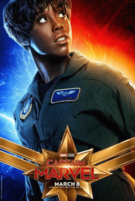 Maria Rambeau on the poster of Captain Marvel.