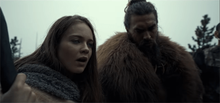 Hera Hilmar as 'Maghra' on Apple TV+ series 'SEE' starring alongside Jason Momoa's character 'Baba Voss.'