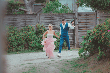 Emilie Ullerup and Kyle Cassie got married in 2018.