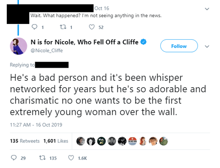 Nicole Cliffe called Jeff Goldblum a bad person but did not provide any evidence to back her claims of sexual assault.