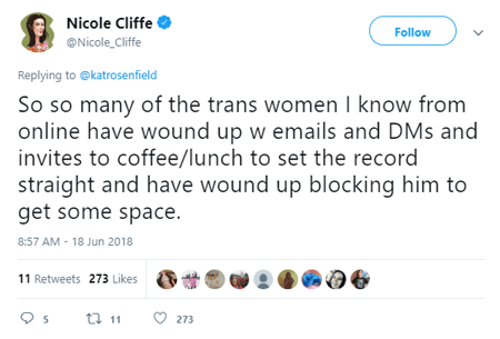 Nicole Cliffe said she received emails of wrong doings by Jesse Singal but this was, again, all unfounded allegations.