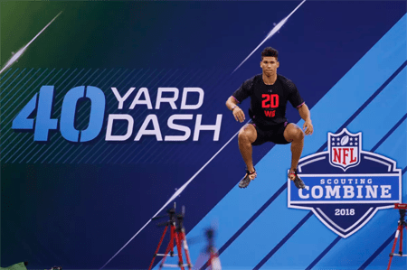 Allen Lazard at his Combine.