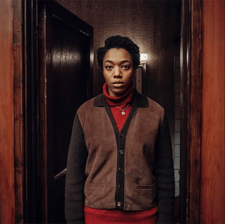 Naomi Ackie playing a character in a movie.