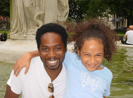 Aurora Perrineau with her father Harold Perrineau, who is also an actor.