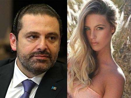 Candice van der Merwe and Saad Hariri were involved in a relationship and this is a collage photo of the both.