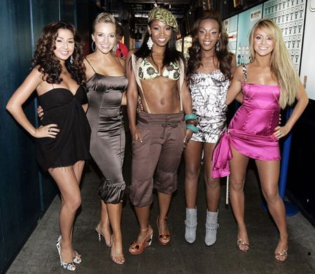 Danity Kane group together at a reunion.