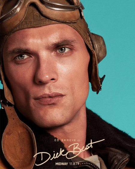 Ed Skrein is playing the real-life character of Dick Best in the upcoming World War II movie Midway.