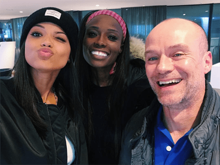 Ella Balinska with her parents, father Kaz Balinski and mother Lorraine Pascale.