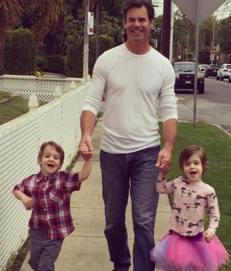 Tuc Watkins with his twins / kids; two children - a son and a daughter.