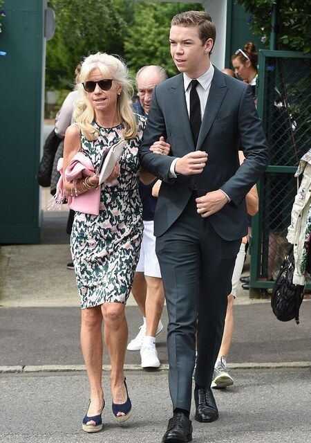 Will Poulter with his mother Caroline Poulter.