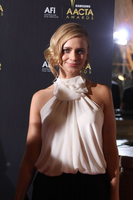 Carnival Row actress Maeve Dermody who has appeared in several movies and TV series attending the AACTA Awards in Sydney, Australia in 2012.