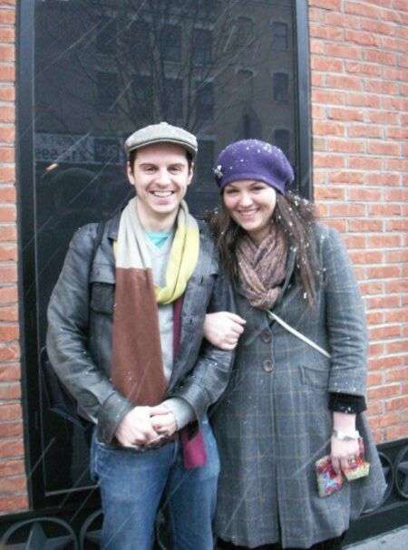 Black Mirror actor Andrew Scott with his younger sister Hannah.