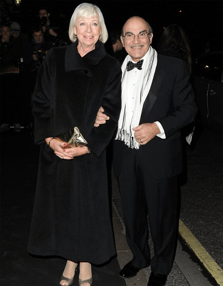 David with his wife Sheila; he will appear next in the show 'His Dark Materials.'