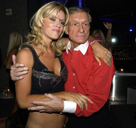 Jenny McCarthy with Hugh Hefner.