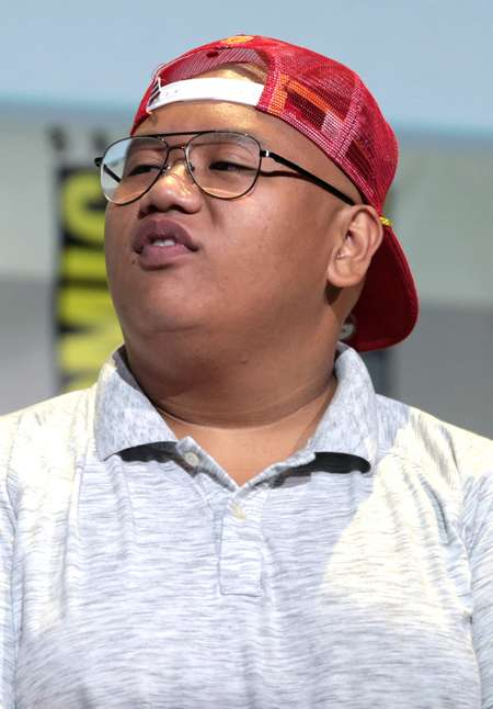Jacob Batalon was hired to play the character of Ned Leeds in Spider-Man: Homecoming. Here seen at the San Diego Comic-con.