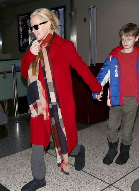 Jenny McCarthy and her son with John Asher, Evan.