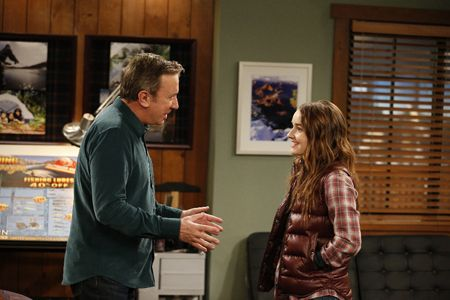 Tim Allen and Kaitlyn Dever during Last Man Standing.