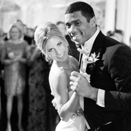 Russell Wilson and Ashton Meem got married after he was drafted into the NFL in the third round.