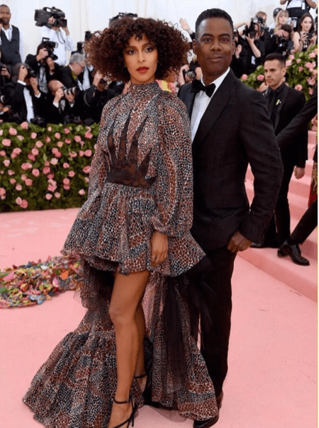 Megalyn Echikunwoke and her boyfriend Chris Rock at the Met Gala.