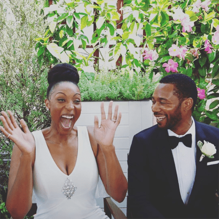 Lisa Berry and her husband Dion Johnstone.