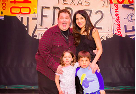 ralphie may and lahna turner with their children
