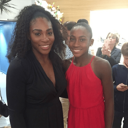 Coco met Serena Williams met when she was eight years old.