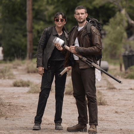 Annet Mahendru on the set of The Walking Dead Spin-Off.