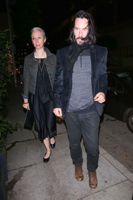 Alexandra Grant and Keanu Reeves were spotted sharing a dinner.