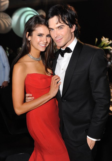 Ian Somerhalder with his ex-girlfriend Nina Dobrev.