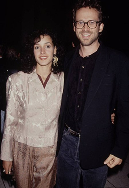 Jennifer Beals with her first husband Alexandre Rockwell.