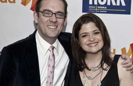 Alex Guarnaschelli with her former husband Brandon Clark.