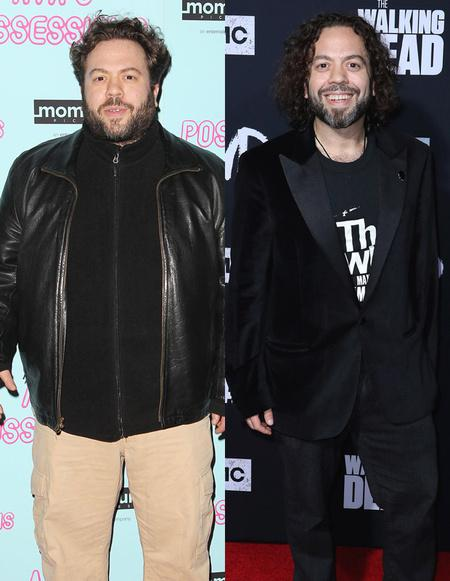Dan Fogler before and after weight loss, left and right, respectively.