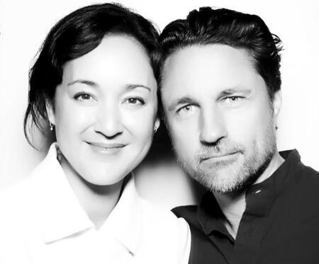 Martin Henderson with his girlfriend and potential wife Helen Randag.