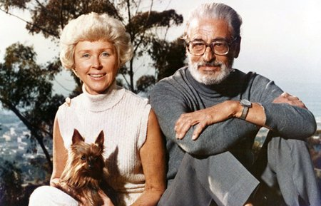 Dr. Seuss with his second wife Audrey Geisel.