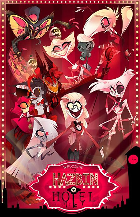 Hazbin Hotel Characters on the poster for the show.