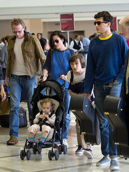 Jennifer Connelly with husband Paul Bettany and her three kids, Kai, Stellan, and Agnes.