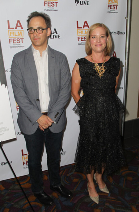 Zandy Hartig with her former husband David Wain.