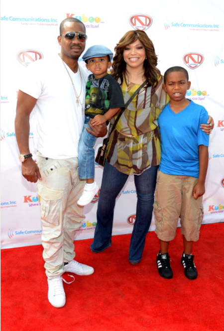 Tisha Campbell with her husband Duane Martin and their two kids, Xen Martin and Ezekiel Martin.