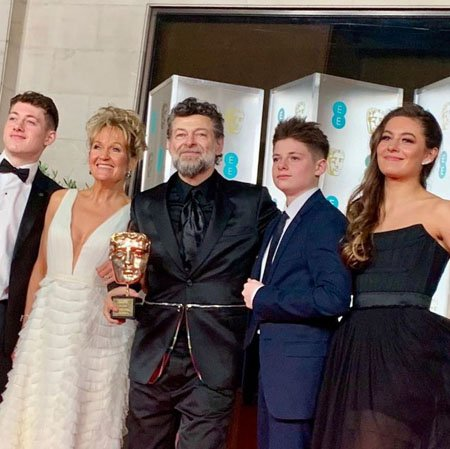 Ruby Ashbourne Serkis and her family at the BAFTAs.