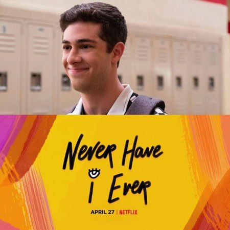 Jaren Lewison plays Ben Gross in the Netflix series Never Have I Ever.