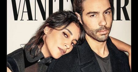 Leila Bekhti with her actor husband Tahar Rahim.