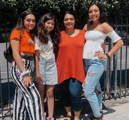 Avani Gregg with her mother and two sisters.