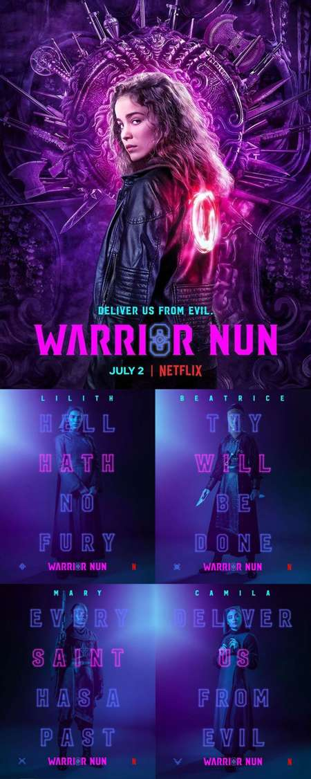 Warrior Nun cast features an all woman ensemble battling the forces of evil.
