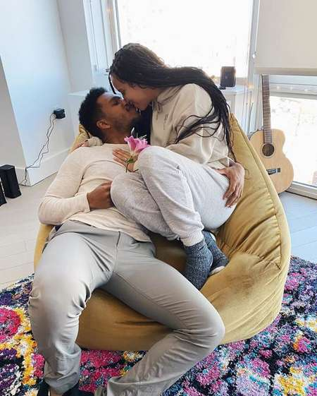 Kiana Madeira and her boyfriend Lovell Adams-Gray are engaged to be married.