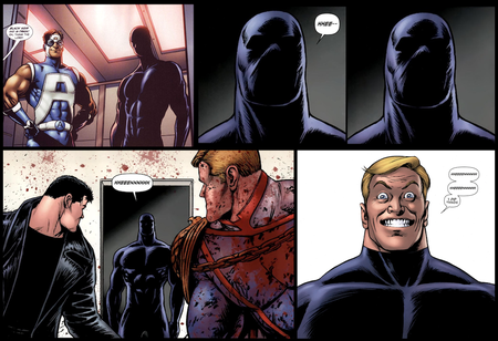 Black Noir is revealed to be a clone of Homelander in The Boys comics.