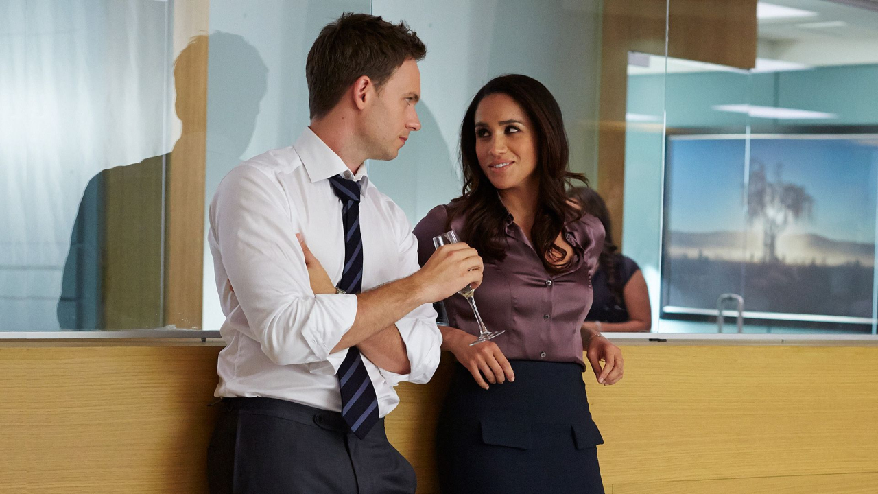 Mike Ross and Rachel Zane on Suits.
