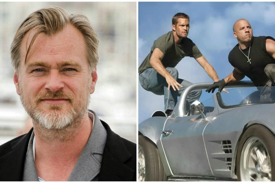 Christopher Nolan admits he's a big fan of the Fast & Furious franchise.